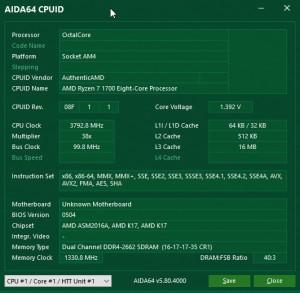 p14 R7-1700 oc AIDA64 cpuid