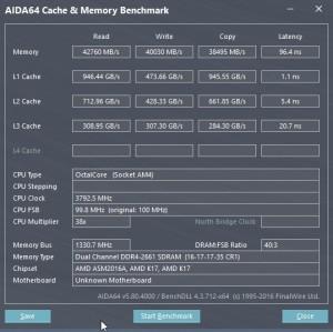 p15 R7-1700 oc AIDA64 caches