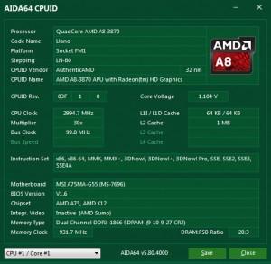 p14 A8-3870K base AIDA64 cpuid