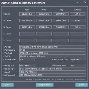 p15 A8-3870K base AIDA64 caches