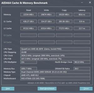 p15 A8-3870K oc2 AIDA64 caches
