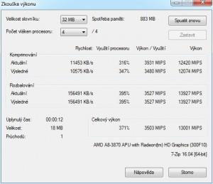 p33 A8-3870K oc2 7-Zip