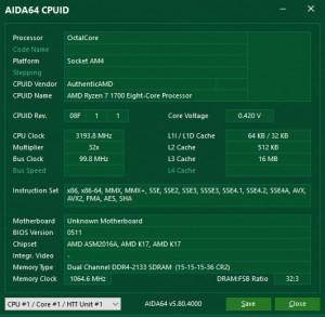 p14 R7-1700 default AIDA64 cpuid