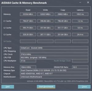 p15 R7-1700 default AIDA64 caches
